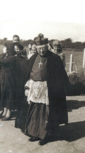 Bishop Flynn at the church opening in August 1951